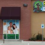 Dental signs, window perf, logo, branding