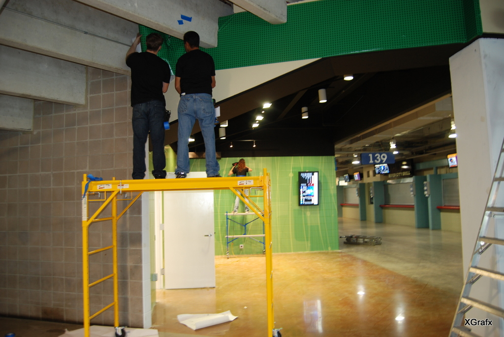 Alamodome Green Fork - Top Graphics and Installation