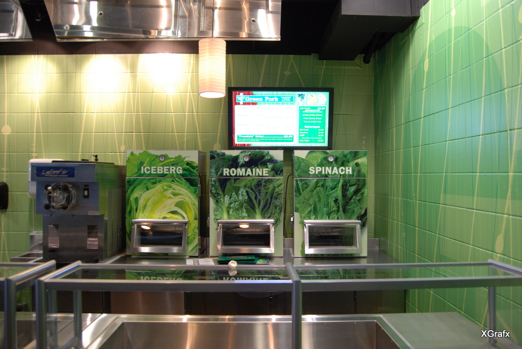 Alamodome Green Fork - Vending Machine Graphics and Wrap