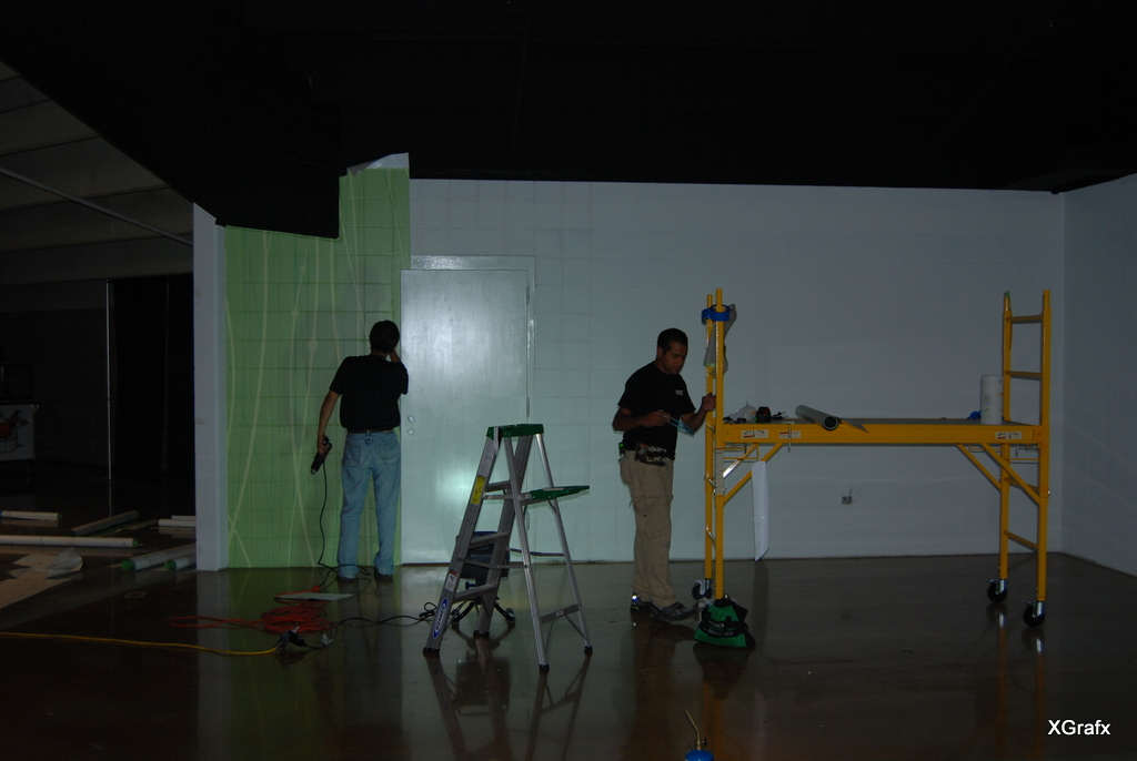 Alamodome Green Fork - Wall Graphics and Wall Wrap Installation